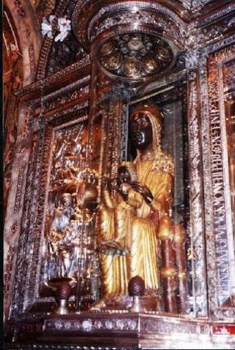 Virgin of Monserrat. Boss of Monserrat (Barcelona) and of Catalonia