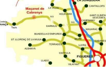 mapa de situacion de Maçanet De Cabrenys