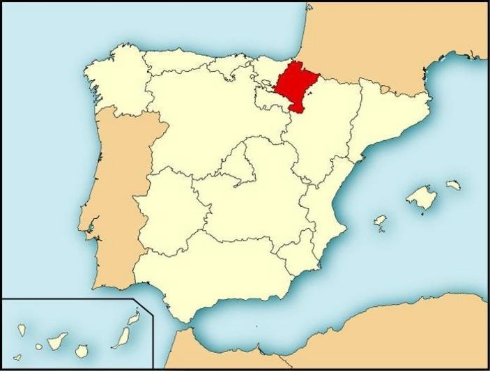 Mapa Localizacion de Navarra