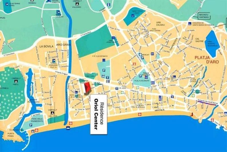 Plano-mapa-callejero de Platja d�Aro o Playa de Aro
