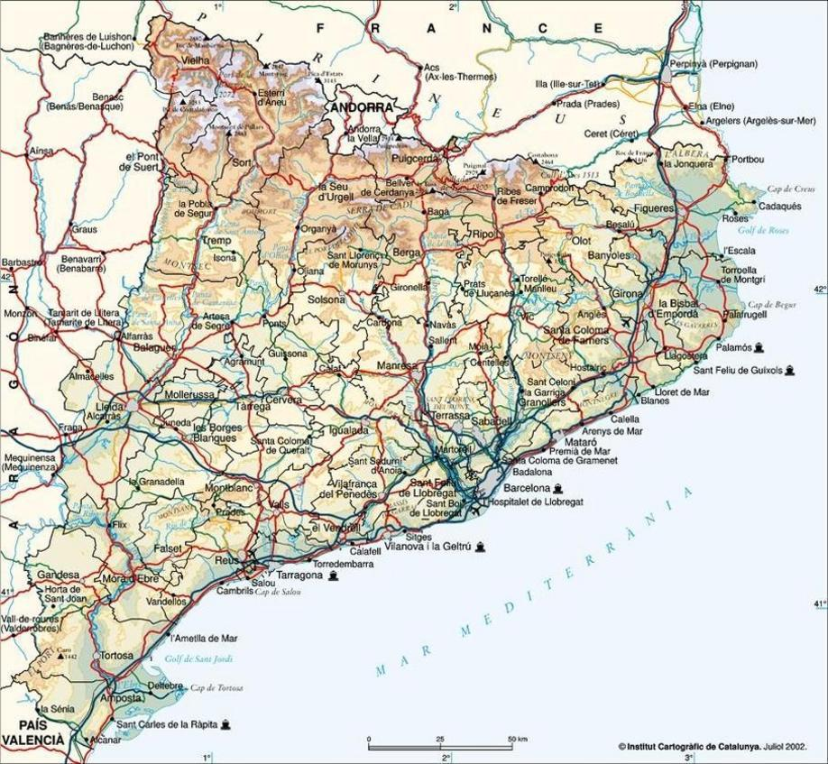 Mapa Catalu�a