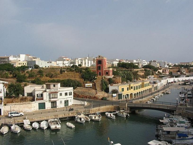 Puerto de Ciudadela, Menorca durante una rissaga, Islas Baleares