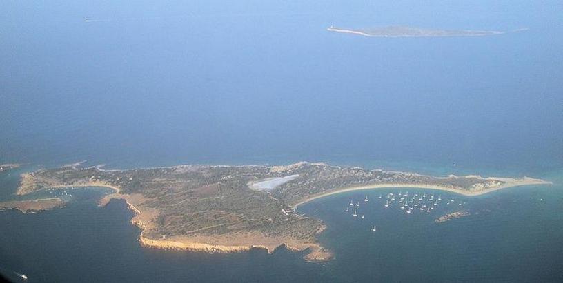 Vista aérea de la islas de S´Espalmador, Formentera, islas Baleares