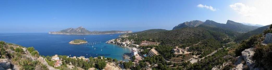 Vista panorámica de Sant Elm, Andraitx, Mallorca, islas Baleares