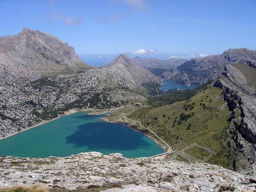 Vista desde lo alto de Puig Mayor, Escorca, Mallorca, islas Baleares