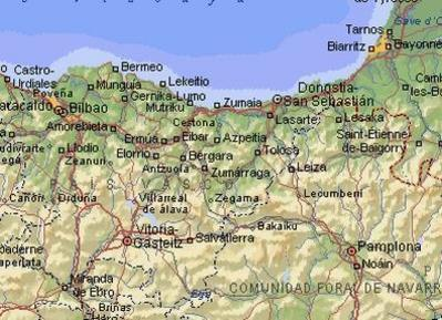 Mapa Pais Vasco Pueblos.Mapa Pais Vasco Fotos Pueblos Descripcion