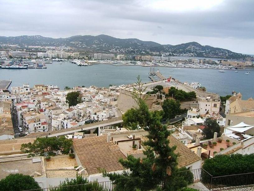 Sight of the City and the Port of Ibiza from Dalt Vila, Balearic Islands
