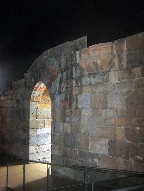 Interior del Castillo de la concepción de Cartagena