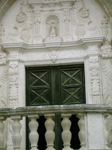 Detalle de la Iglesia de Santa Eulalia, Menorca, Islas Baleares