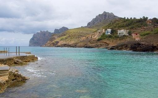 Vista de Sa Calobra, Mallorca, islas Baleares