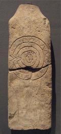 Funeral stela of Valpalmas, Ringworm of the Royo, Moon, Saragossa (1250 to 750 adC). Sandy stone.