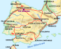The Iberian Peninsula in 125 A.D., which shows the August Route with his another name, Herculean Rou