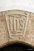 IHS, monograma del nombre de Jesucristo en Roncal Navarra España