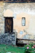 Front of a house in Roncal Navarre Spain