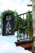Letrero de bar en Roncal Navarra España