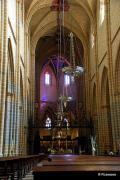 Vista del interior de la catedral de Pamplona, Navarra España.
