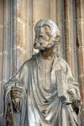 Estatuilla en la Catedral de Santa María de Pamplona