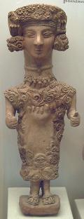 Lady of Ibiza. Feminine statuette proceeding from the Carthaginian necropolis of Puig des Molins