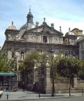 South front of the Parochial Church of Santa Barbara of Madrid (Spain).