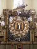 Reredos of the Virgin of the Pigeon. Interior of the Church of the Pigeon