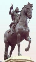 Equestrian statue of bronze of Felipe III of Spain (1578-1621)