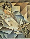 Retrato de Picasso pintado por Juan Gris.