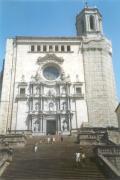 Fachada principal de la catedral de Gerona