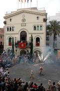 Badalona, fiestas plaza de la vila
