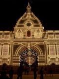 Luminaria festiva de lsoe dificios de Ceuta