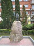 Sculpture Mere Sweeper, Torrelavega, Region of the Besaya, Cantabria