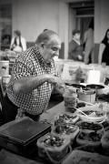 Seller of the market of Sineu, Majorca, Balearic Islands