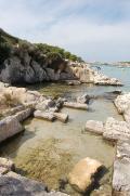 Formación rocosa de Cala Santandria, Menorca, islas Baleares